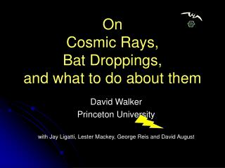 On  Cosmic Rays,  Bat Droppings,  and what to do about them