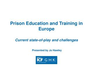 Prison Education and Training in Europe