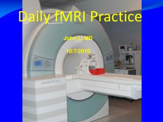 Daily fMRI Practice