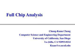 Full Chip Analysis