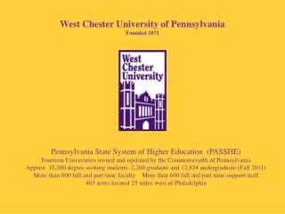 West Chester University of Pennsylvania Founded 1871