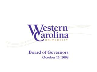 Board of Governors October 16, 2008
