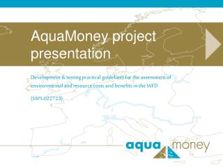 AquaMoney project presentation
