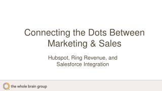 Connecting the Dots Between Marketing & Sales