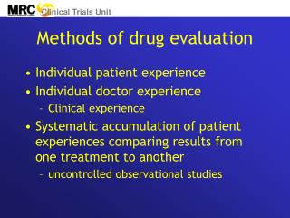Methods of drug evaluation