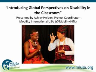 """""""Introducing Global Perspectives on Disability in the Classroom"""""""