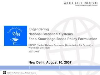 Engendering  National Statistical Systems  For a Knowledge-Based Policy Formulation