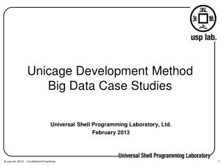 Unicage Development Method Big Data Case Studies