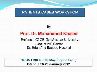 Patient cases workshop