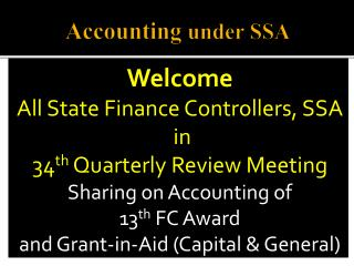 Accounting  under SSA