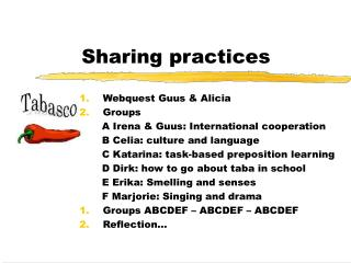 Sharing practices