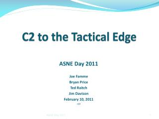 C2 to the Tactical Edge