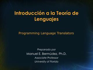 Introducción a la Teoría de Lenguajes