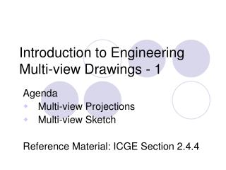 Introduction to Engineering Multi-view Drawings - 1