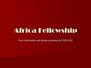 Africa Fellowship