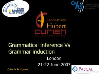 Grammatical inference Vs Grammar induction