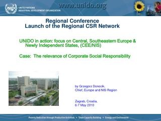 Regional Conference  Launch of the Regional CSR Network