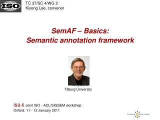SemAF – Basics:  Semantic annotation framework