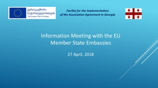 Information Meeting with the EU Member State Embassies 27 April, 2018