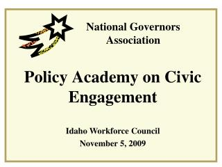 Policy Academy on Civic Engagement