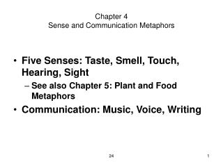 Chapter 4 Sense and Communication Metaphors