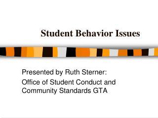Student Behavior Issues