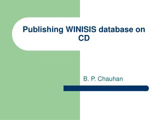 Publishing WINISIS database on CD