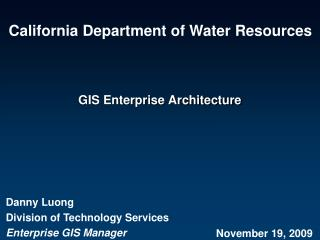 GIS Enterprise Architecture