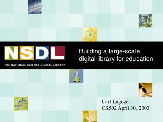 Building a large-scale digital library for education
