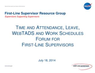 First -Line Supervisor Resource  Group Supervisors  Supporting Supervisors