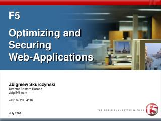 F5  Optimizing and Securing Web-Applications