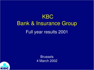 KBC Bank & Insurance Group