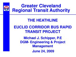 Greater Cleveland  Regional Transit Authority
