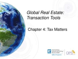 Global Real Estate: Transaction Tools