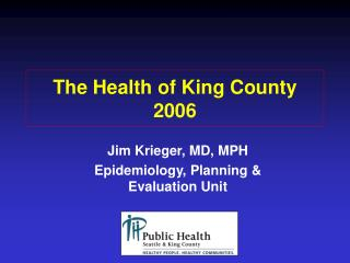 The Health of King County 2006