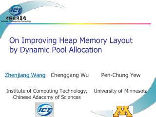 On Improving Heap Memory Layout by Dynamic Pool Allocation