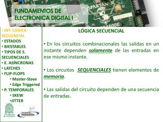 FUNDAMENTOS DE ELECTRONICA DIGITAL I