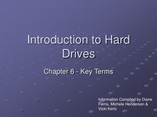 Introduction to Hard Drives