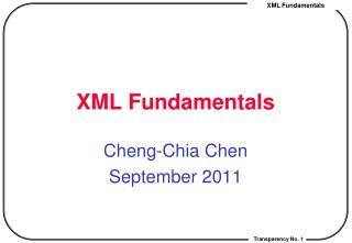XML Fundamentals