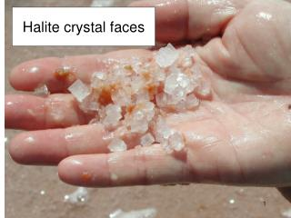 Halite crystal faces