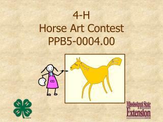 4-H Horse Art Contest PPB5-0004.00