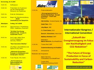 Internationaler Kongress / International Convention