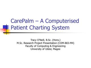 CarePalm – A Computerised Patient Charting System