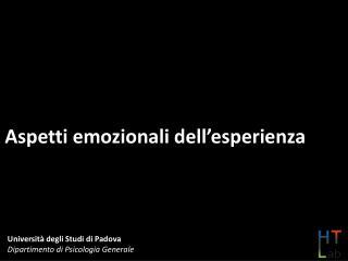 Aspetti emozionali dell'esperienza