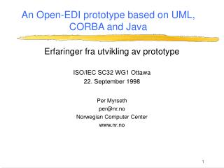 An Open-EDI prototype based on UML, CORBA and Java