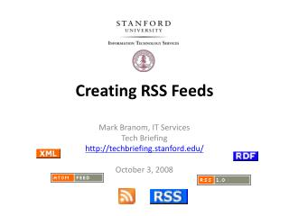 Creating RSS Feeds