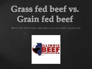 Grass fed beef vs. Grain fed beef