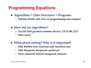 Programming Equations