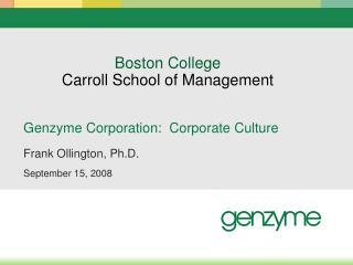 Boston College Carroll School of Management