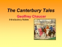 The Canterbury Tales  Geoffrey Chaucer